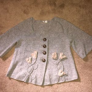 Moth Anthropologie Floral Wool Sweater M
